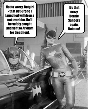 The Batman knows how to protect the public from madmen...