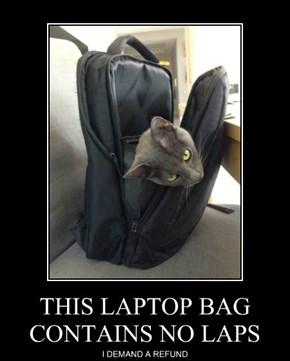 THIS LAPTOP BAG CONTAINS NO LAPS