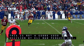 Eli Manning Got a New Nickname Courtesy of FOX Closed Captioning