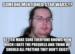 SOMEONE MENTIONED STAR WARS??
