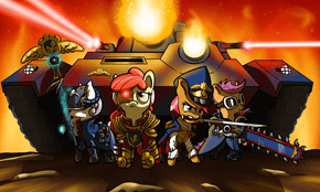 Cutie Mark Crusaders Heresy Purgers!