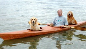 This Man Loved Taking His Dogs on Adventures So Much That He Built a Kayak to Take Them Along