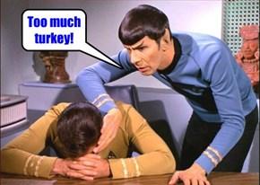 Too much turkey!