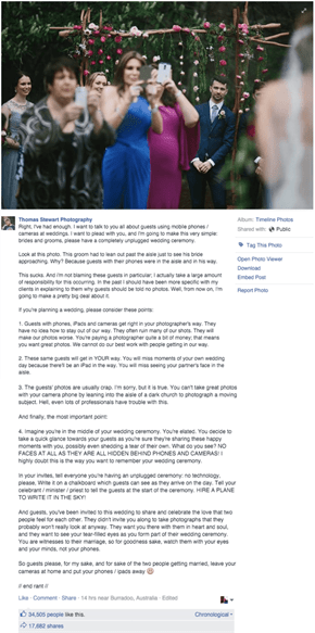 This Wedding Photography Posted a Simple Rant to Make Your Special Day More Memoriable