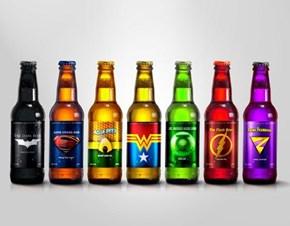 Colorful Super Hero Beer