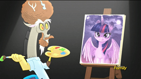 "Bob Rosscord and ""I painted you a cute Twilight"""
