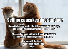 Selling cupcakes door-to-door