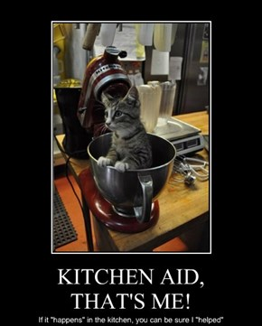 KITCHEN AID, THAT'S ME!