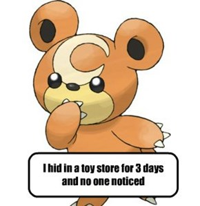 Pokemon shaming: Teddiursa