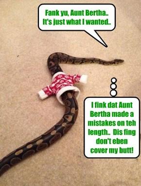 Fank yu, Aunt Bertha..