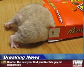 Breaking News - Dont let the new year find you like this guy eat responsibly