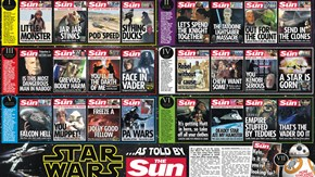 The Sun Sums Up the Star Wars Saga With 25 Pun Filled Front Pages