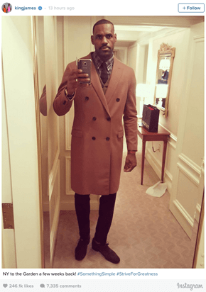 LeBron James Posted a Picture of His Fashionable Coat and The Internet Let Him Know What It Reminded Them Of