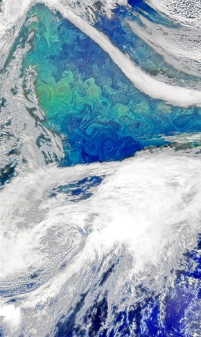 NASA Captures a Stunning Image of the North Atlantic Ocean, Who Knew Phytoplankton Could Look So Good?
