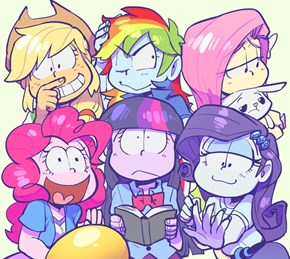 Osomatsu-San (Mane 6 Version)