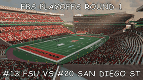 FBS PLAYOFFS ROUND 1  #13 FSU VS #20 SAN DIEGO ST