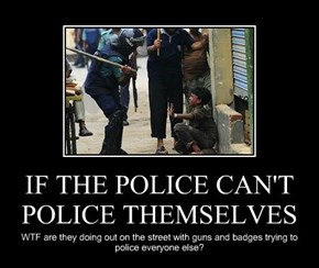 IF THE POLICE CAN'T POLICE THEMSELVES