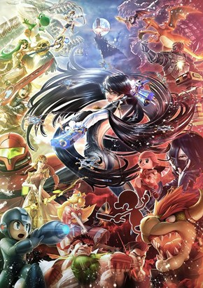 Bayonetta's Official Smash Art is Absolutely Stunning