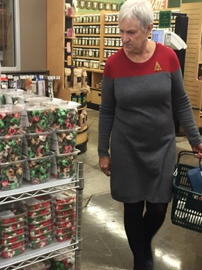 That Moment When Your Grandma's in the Star Trek Starfleet