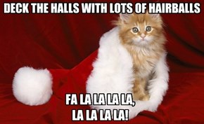 DECK THE HALLS WITH LOTS OF HAIRBALLS
