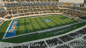 FBS PLAYOFFS ROUND 1  #16 APPALACHIAN ST VS #17 FLORIDA