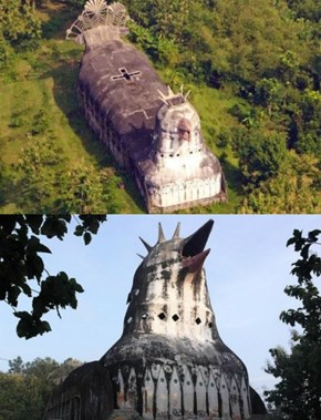 Giant chicken church in located deep in the forest of Central Java island in Indonesia