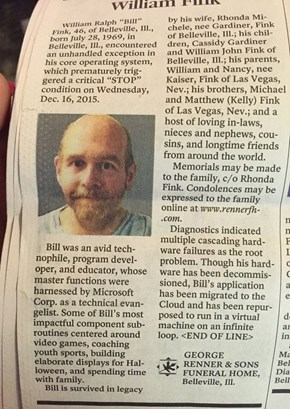 This Obituary Was Perfectly Executed For a Great Computer Programmer