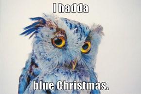 I hadda  blue Christmas.