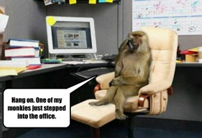 Hang on. One of my monkies just stepped into the office.