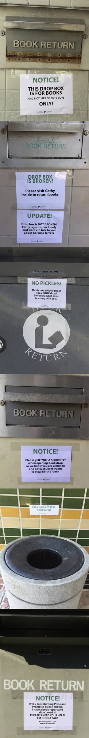 I Wish This Sassy Book Drop Was at My Local Library
