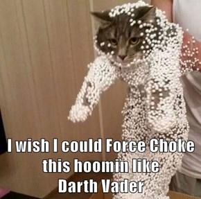 I wish I could Force Choke this hoomin like                          Darth Vader