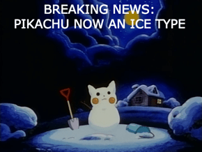 Frosty the Pikachu Had a Very Electric Nose