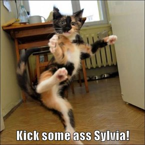 Kick some ass Sylvia!