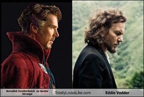 Benedict Cumberbatch  as Doctor Strange Totally Looks Like Eddie Vedder