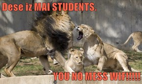 Dese iz MAI STUDENTS.   YOU NO MESS WIF!!!!!