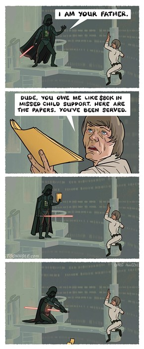 Luke... JK, I'm Not Your Father.