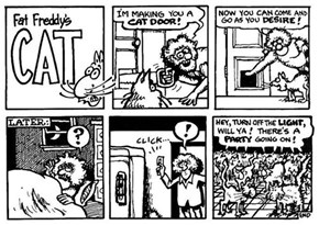 Fat Freddy's Cat Comic 3/28 Catflap