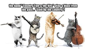 "the band "" Country Tom & the Kits""  play  a blast from the past.... ""Goin'Up the Country""!"