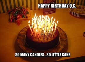 SO MANY CANDLES...SO LITTLE CAKE