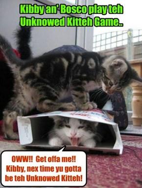 Bosco finds out dat pretending to be teh Unknown Kittie iz harder den he thawt!
