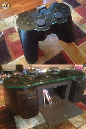 Got Three Grand to Burn? This PS3 Controller Coffee Table Could be Yours!