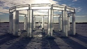 "Somewhere in Wisconsin, Glorious ""Icehenge"" Has Been Erected"