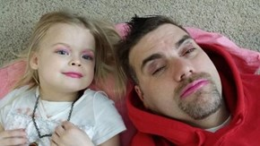 Nothing Like Daddy-Daughter Makeup Day!