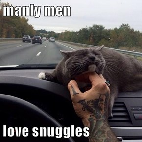 manly men  love snuggles
