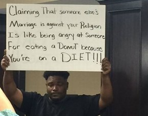 Alabama's Recent Gay Marriage Ruling Brought Out Some Great Counter-Protest