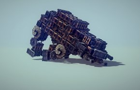 An Imperial Walker Made in Besiege Does Exactly What You Would Think it Would Do