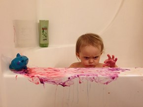Bath Time is Serious Business