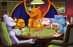 Pokémon Playing Poker