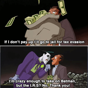 Even the Joker is Afraid of the Government