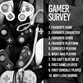 Gamer Survey: Tell Us Your Answers in the Comments!